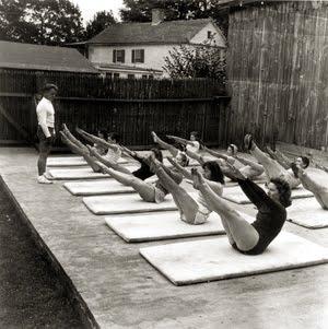 aula em grupo joseph pilates ar livre